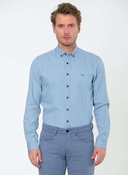 Beymen Business Klasik Uzun Kollu Gömlek İndigo